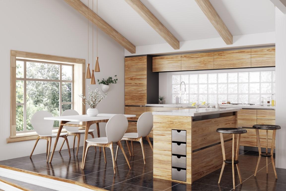 îlot de cuisine en bois