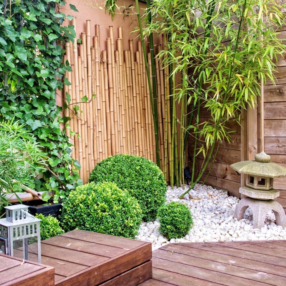 le bois pour un jardin zen