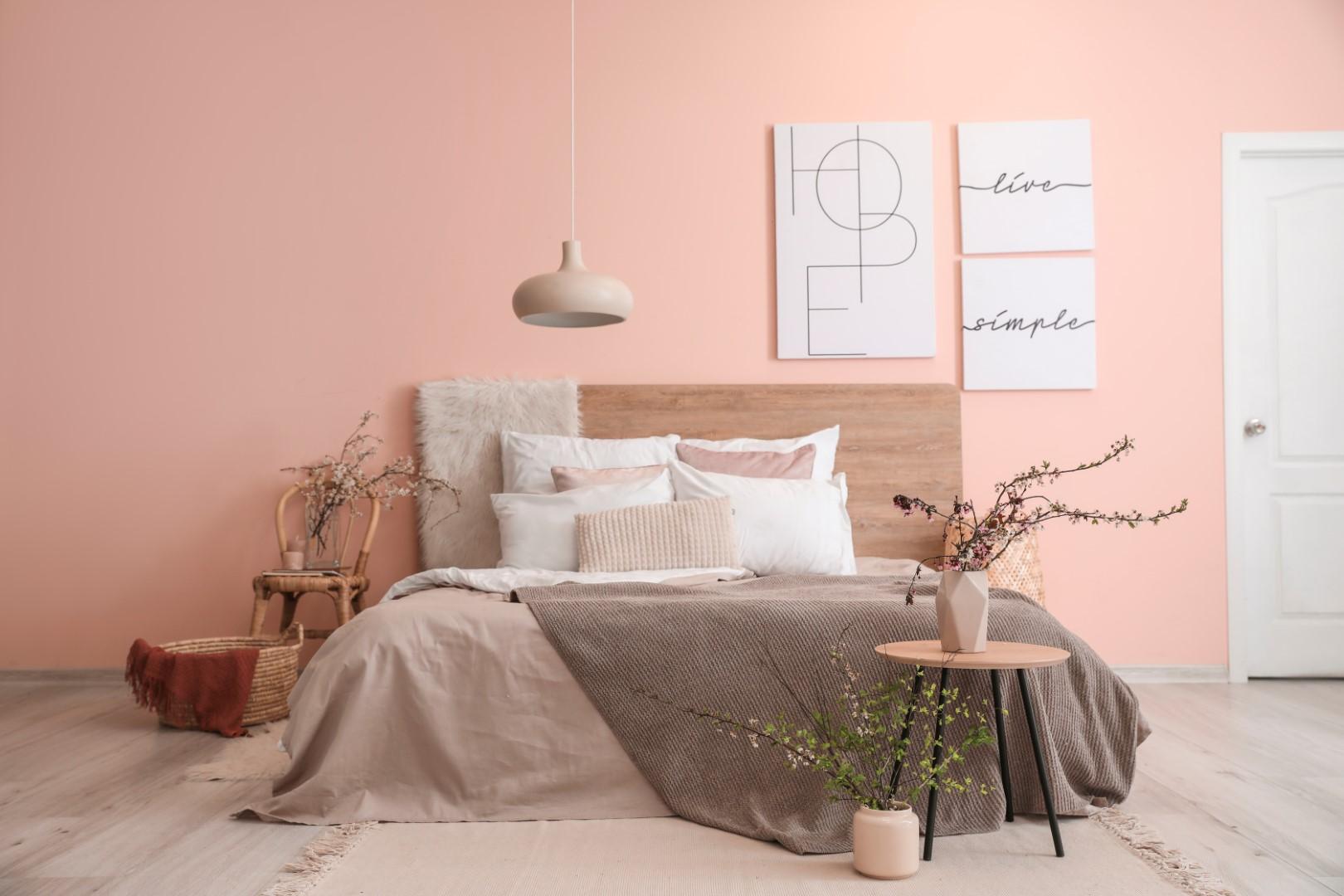 chambre couleur rose