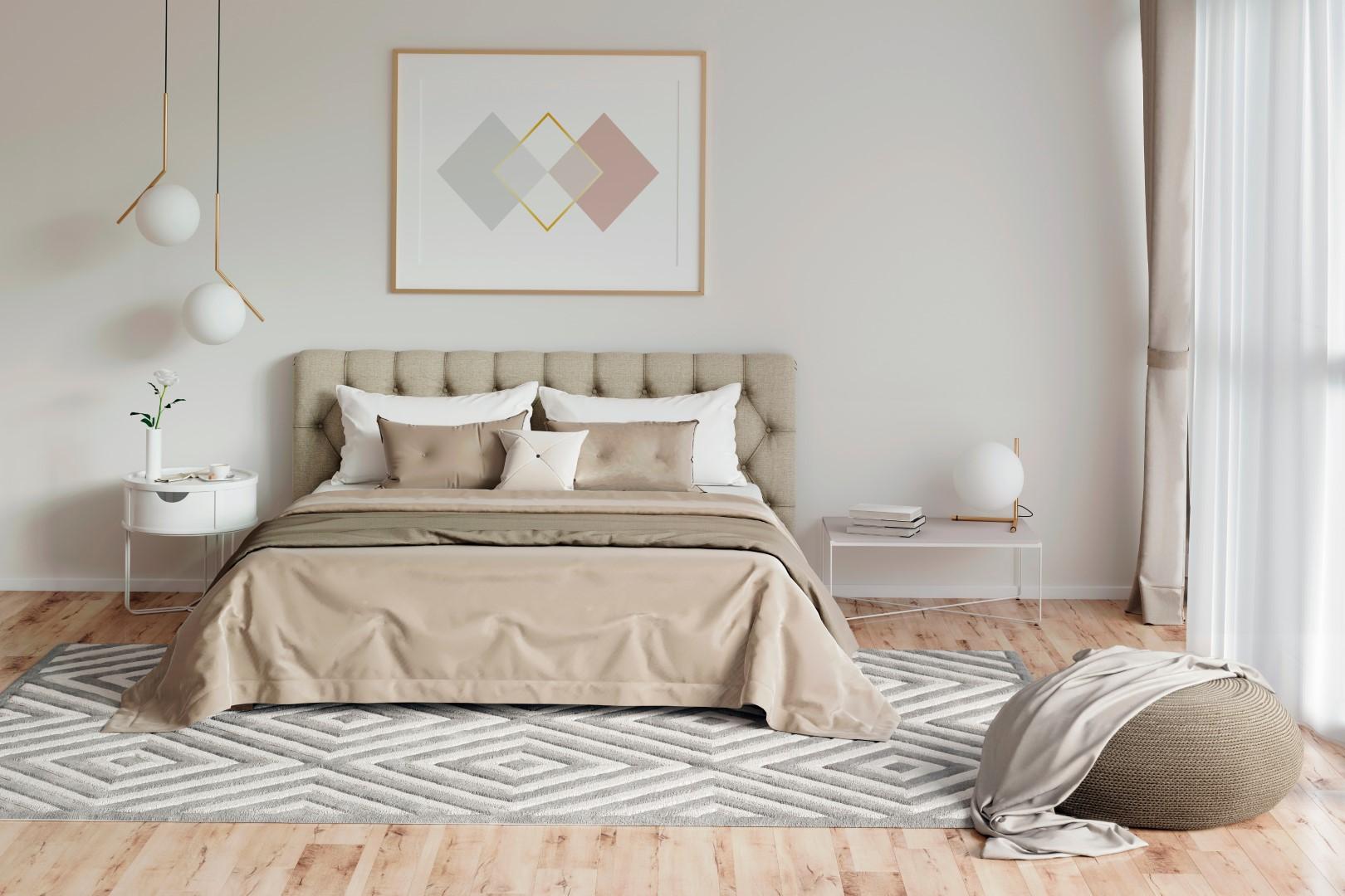 couleur chambre beige