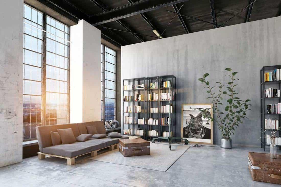 matériaux bruts pour un salon industriel