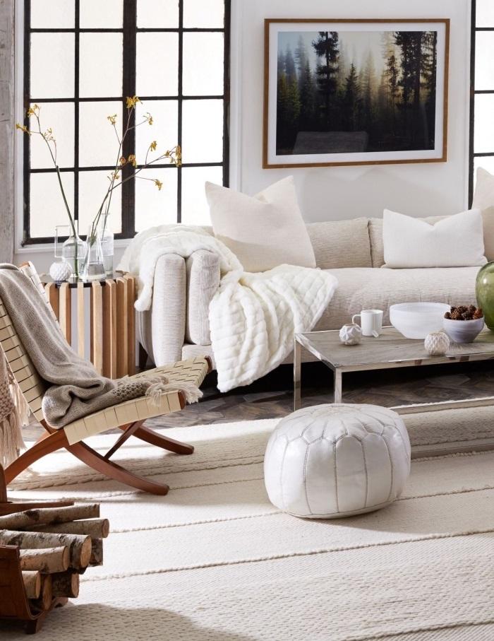 matières naturelles pour ses meubles salon cocooning